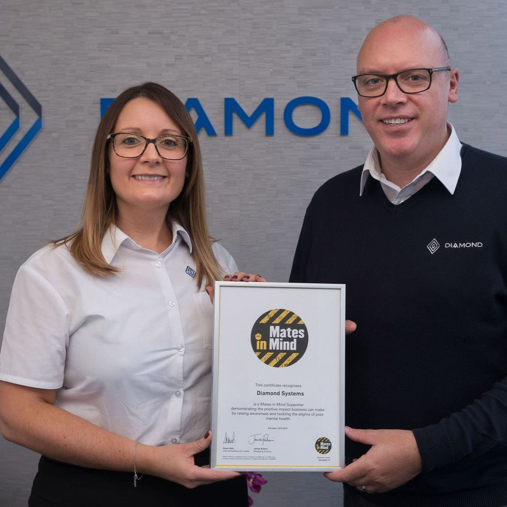 Diamond Pledges Support to Mates in Mind Charity